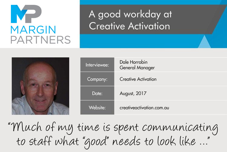 A good workday at Creative Activation