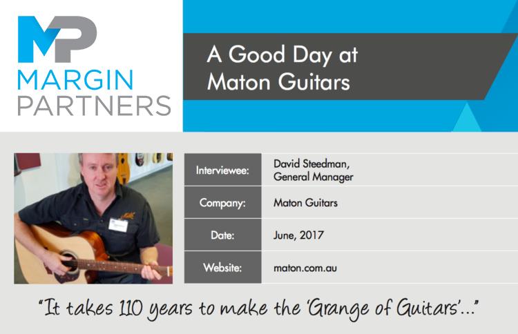 A Good Day at Maton Guitars