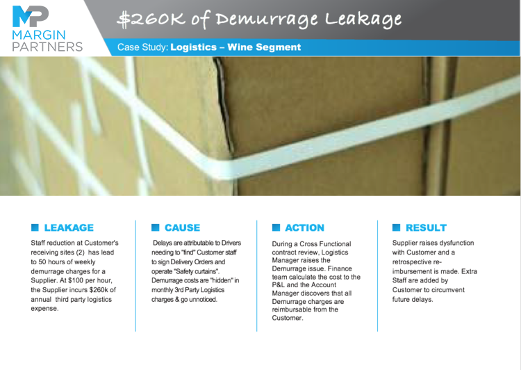 $260K of Demurrage Leakage – Logistics – Wine Segment